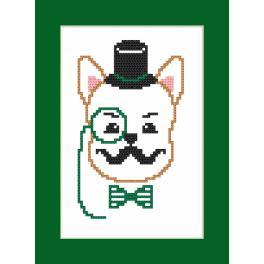 Zählmuster - Karte - Hipster dog boy I