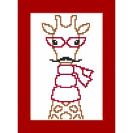 Stickpackung - Karte - Hipster giraffe boy
