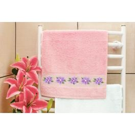 Zahlmuster online - Handtuch mit Klematis
