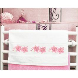 Zahlmuster online - Handtuch mit Lilie