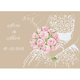 Stickpackung - Hochzeitsandenken