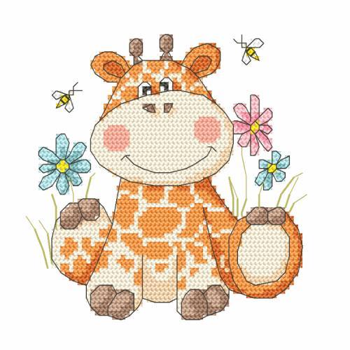 Stickpackung - Süße Giraffe