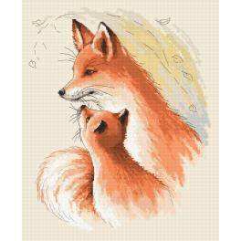 Gobelin - Angeschmiegte Füchse