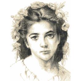 Aida mit Aufdruck - Mädchen von W.Bouguereau