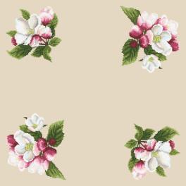 Zählmuster - Serviette - Um den Apfelzweig herum II