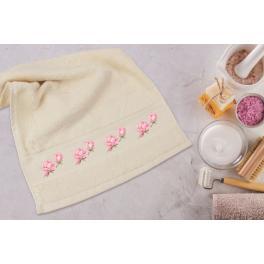 Zahlmuster online - Handtuch mit Magnolie