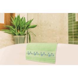 W 8743 Zahlmuster online - Handtuch mit Blumen