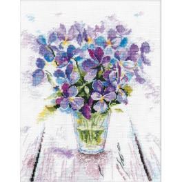 Stickpackung - Blaue Veilchen