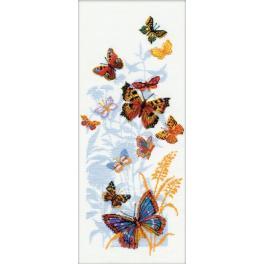 Set mit Wollgarn - Russische Schmetterlinge