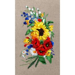 Bändchenset - Farbenreicher Blumenstrauß