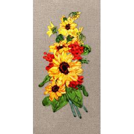 Bändchenset - Sonnenblumen mit Eberesche