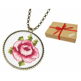 Geschenkset - Medaillon mit Rose