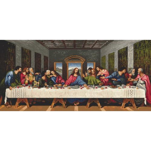Zahlmuster online - Das letzte Abendmahl - L. da Vinci