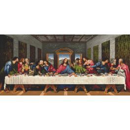 Set mit Aida mit Aufdruck und Stickgarn - Das letzte Abendmahl - L. da Vinci