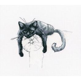 Stickpackung - Schwarze Katze - Nicht stören