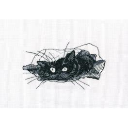 Stickpackung - Schwarze Katze - Such!