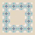 Stickpackung mit Stickgarn und Serviette - Marokkanisches Serviette I