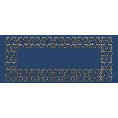 Stickpackung mit Stickgarn und Tischläufer - Marokkanisches Tischläufer III