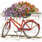 Stickpackung mit Perline - Mit dem Fahrrad durch den Sommer