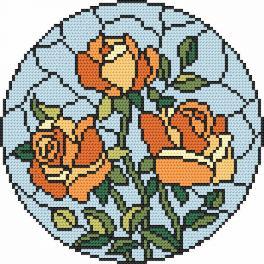 Zählmuster - Mosaikmalerei – Rosen