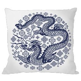 Stickpackung mit Kissenbezug - Kissen - Chinesisches Porzellan III