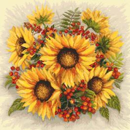 Zahlmuster online - Sonnenblumen