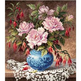 Stickpackung - Rosen und Fuchsien