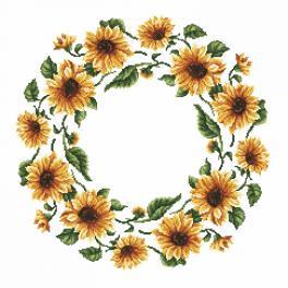 Zählmuster online - Serviette - Sonnenblumen