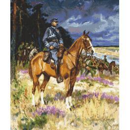 Stickpackung - Soldat auf einem Pferd