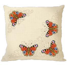 Stickpackung mit Kissenbezug - Kissen mit Schmetterlingen