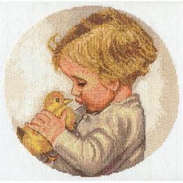 Stickpackung - Junge mit Entchen