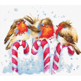Stickpackung - Weihnachtsvögel