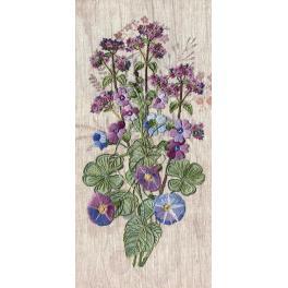 Set zum Sticken mit Crewel-Stich und speziellen Nähten - Fantasie der Feldblumen