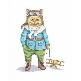 Stickpackung - Katze - Pilot