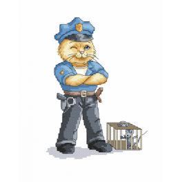 Zahlmuster online - Katze - Polizist