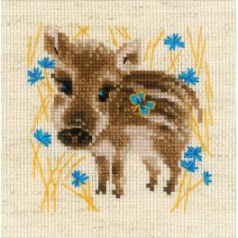 Set mit Wollgarn - Kleines Wildschwein