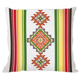 Zählmuster - Mexikanisches Kissen I