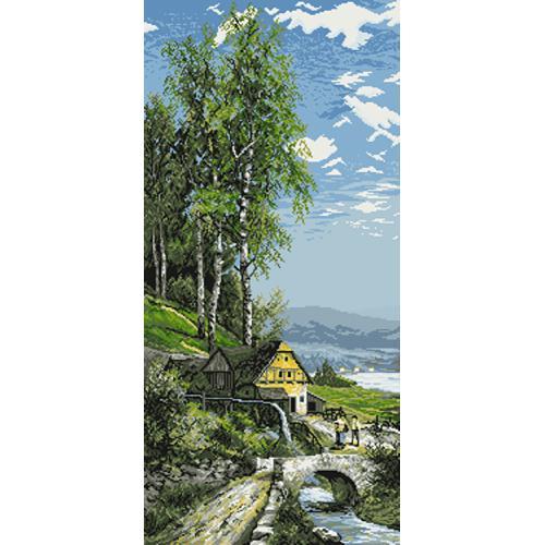 Gobelin - Eine Wassermühle