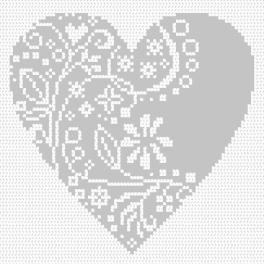 Zählmuster online - Dekoratives Herz