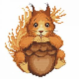 W 10062 Zahlmuster online - Kleines Eichhörnchen