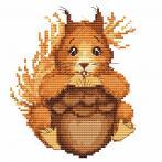 Zahlmuster online - Kleines Eichhörnchen