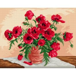 Gobelin - Rote Mohnblumen