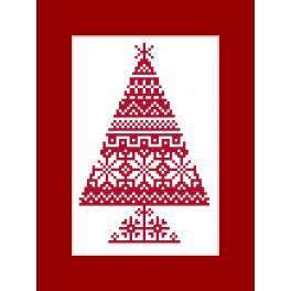 Zahlmuster online - Karte - Ethnischer Weihnachtsbaum