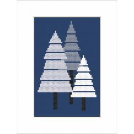 Zahlmuster online - Karte - Weihnachtsbaum
