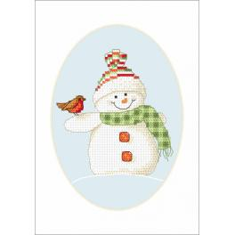 ZU 8660-02 Stickpackung - Karte - Winterfreunde