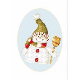 Zahlmuster online - Karte - Schneemännchen