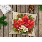 Zahlmuster online - Kissen - Weihnachtsmagie der roten Farbe