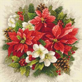 Zahlmuster online - Weihnachtsmagie der roten Farbe