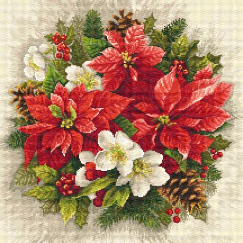 Zählmuster - Weihnachtsmagie der roten Farbe