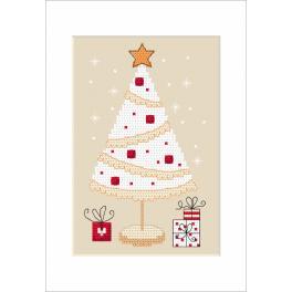 Zählmuster - Weihnachtskarte - Tannenbaum